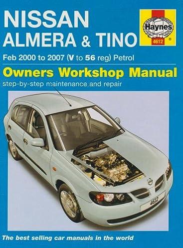 nissan almera and tino petrol service and repair manual haynes rh amazon co uk 2012 Nissan Sentra nissan almera tino radio manual