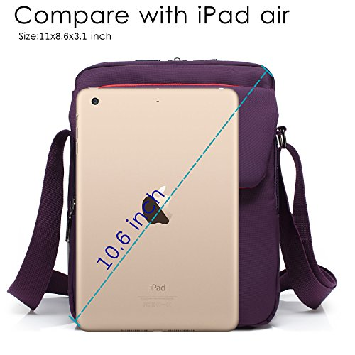 dbcf29f01713 CoolBELL 10.6 inches Shoulder Bag Fabric Messenger Bag iPad Carrying case  Hand Bag Tablet Briefcase Waterproof Oxford Cloth Laptop Computer Shoulder  Bag for ...
