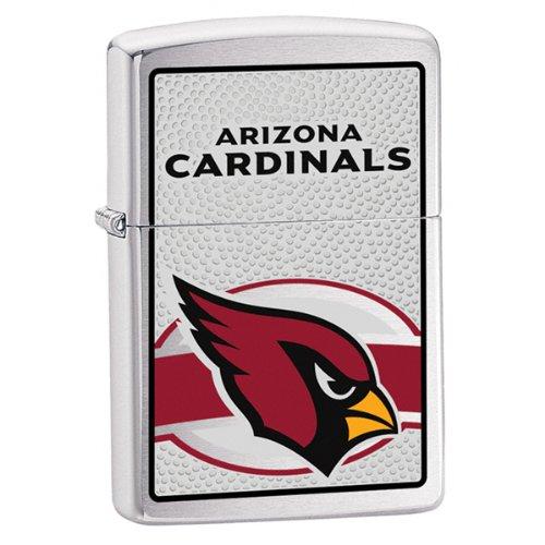 Zippo NFL Arizona Cardinals Lighter (Silver, 5 1/2 x 3 1/2 cm)