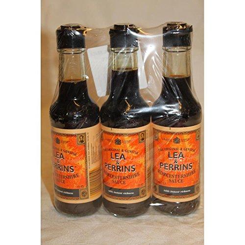 Lea & Perrins Worcestershire Sauce 3 x 150ml Flasche (Worcester Sauce)
