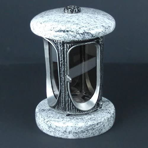 designgrab Alu Grablampe aus Aluminium in Antikoptik in Granit Viscont White