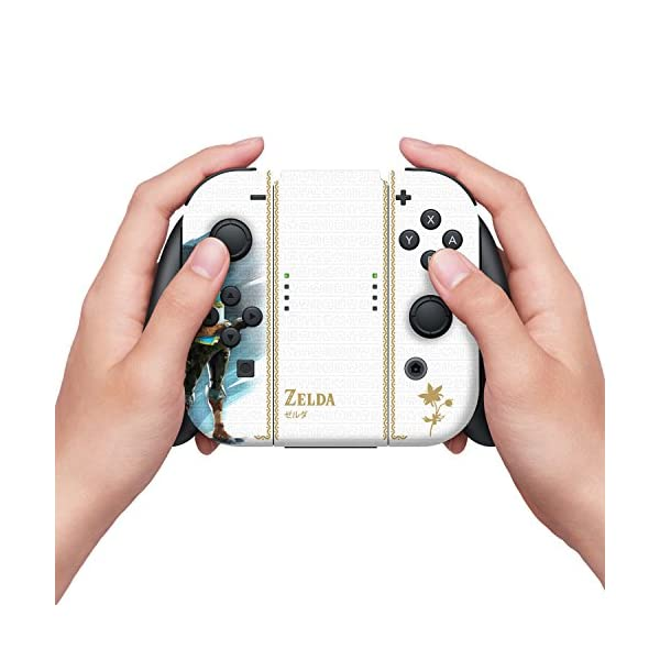 "Controller Gear Nintendo Switch Skin & Screen Protector Set Officially Licensed By Nintendo - The Legend of Zelda: Breath of the Wild: ""Princess Zelda"" - Nintendo Switch 3"