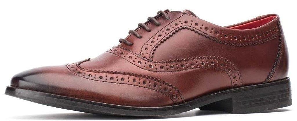 Base London bramble Burnished Rosawood Leder Leder Rosawood Herren Brogues Formal Schuhe 5bdb72