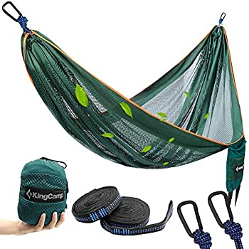 UPSKR Double Camping Hammock-Lightweight 70D Ripstop Portable Parachute Hammock Outdoor Camp Hiking Backpacking,Beach,Yard /& Travel Lounger-Heavy Duty Gear Holds 1000lb