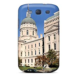 New Snap-on WillJennifer Skin Case Cover Compatible With Galaxy S3- Indianapolis In Statehouse