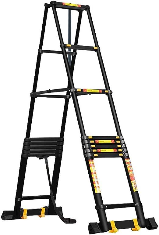 Escalera Telescópica- Escalera Telescópica De Aluminio con Ruedas, Escaleras De Extensión Telescópicas De Servicio Pesado para La Oficina De Home Loft, Capacidad 330 Lbs (negro) (Size : 2.6m/8.5ft) : Amazon.es: Hogar