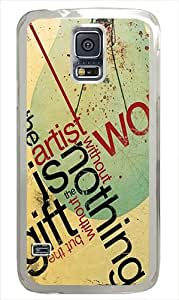 Best Samsung Galaxy S5 Cases 2014 Abstract Typography Custom PC Case Cover for Samsung Galaxy S5 - Transparent