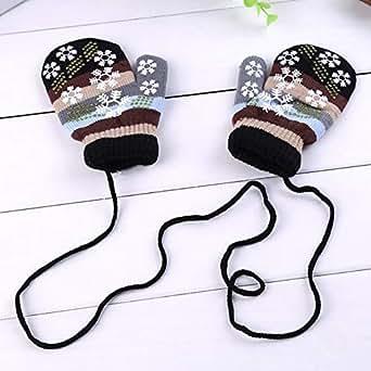 Amazon.com: Autumn Winter Lanyard Gloves Mitts Unisex