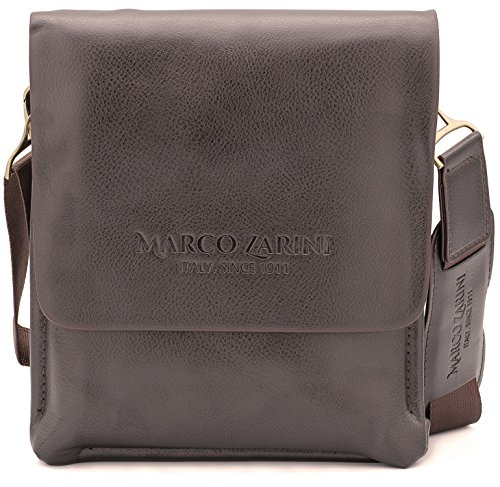 470a4b0a5dcd Marco Zarini Crossbody Bag For Men Eco Leather Briefcase Shoulder Bag  Messenger Bag For iPad Mini