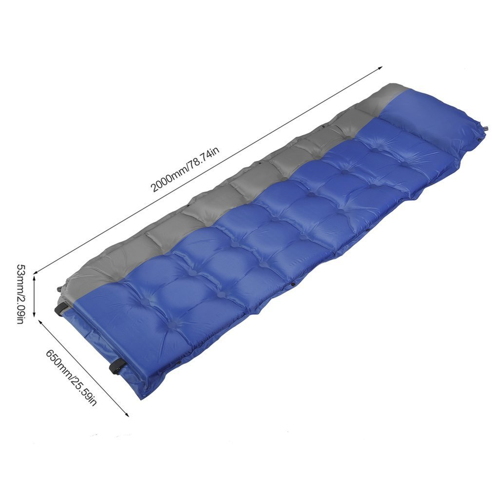 Blue Chriskopher Camping Air Mattress Self-Inflating Automatic Inflatable Cushion 185x60 x2.5