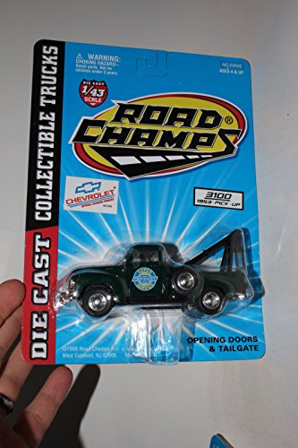 - ROAD CHAMPS 1953 CHEVROLET C3100 WRECKER TOW TRUCK, CHEVY SERVICE, 1:43, NIB ^G#fbhre-h4 8rdsf-tg1356836