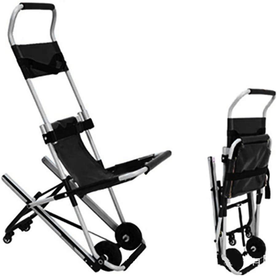 JEANN-AZCX Silla de Aluminio Escalera Andamio - Ambulancia Camilla Luz de Coches Bombero médico Silla de elevación de evacuación con Hebilla de liberación rápida (Plegable)