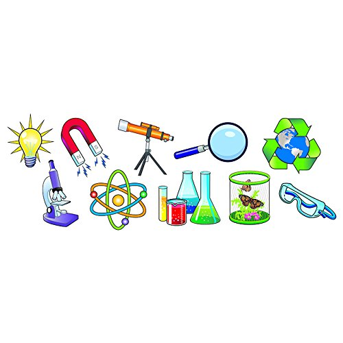 Dowling Magnets Science Pics Magnet Set, Pack of 10 ()