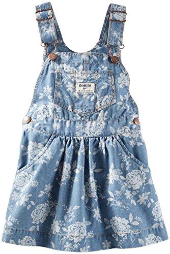 Oshkosh Denim Jumper (OshKosh B'gosh Baby Girls' Denim Print Jumper (Baby) - Floral - 3 Months)