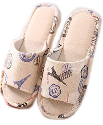 WJL biancheria + pantofole di cotone uominidonne anti scivolo sandali per la casa