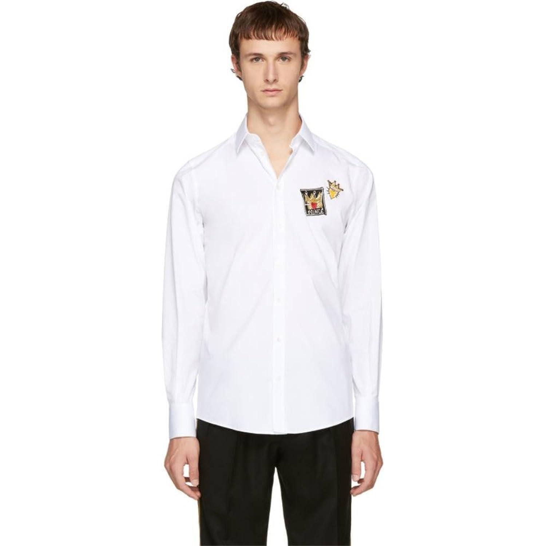(ドルチェ&ガッバーナ) Dolce & Gabbana メンズ トップス シャツ White Patches Shirt [並行輸入品] B07628L9LQ