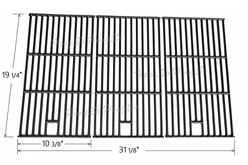 Hongso PCE223 Matte Cast Iron Cooking Grid Replacement for Brinkmann 810-8500-S, 810-8501-S, 810-8502-S; Charmglow 720-0396, 720-0536 and Others, Set of 3 (Bbq Replacement Grates)