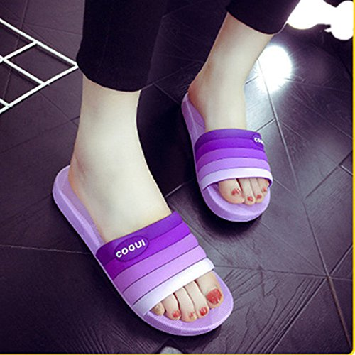 Beach Bathroom Slippers Anti Household Purple Pool Unisex Couple Use Slip Shower Gym Sandals PW8gTY