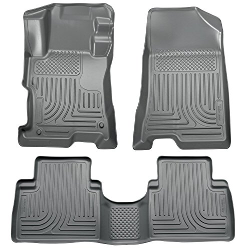 Weathertech 46560-1-3 1st & 2nd Row Grey Floor Liner for 2014 BMW (Grey 1st Row)