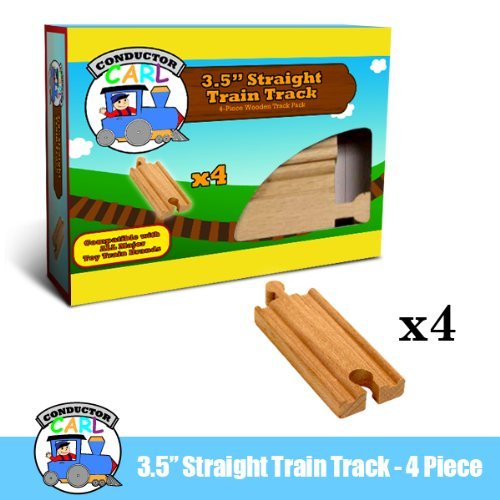 Straight Wooden Train Tracks (4-piece 3.5