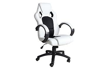 Design exclusif chef fauteuil de bureau ricky original mca blanc