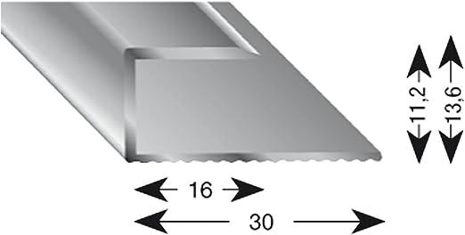K/ügele 11080 SD 100 Gleitabschlussprofil U Alu sand eloxiert 8//1000 mm