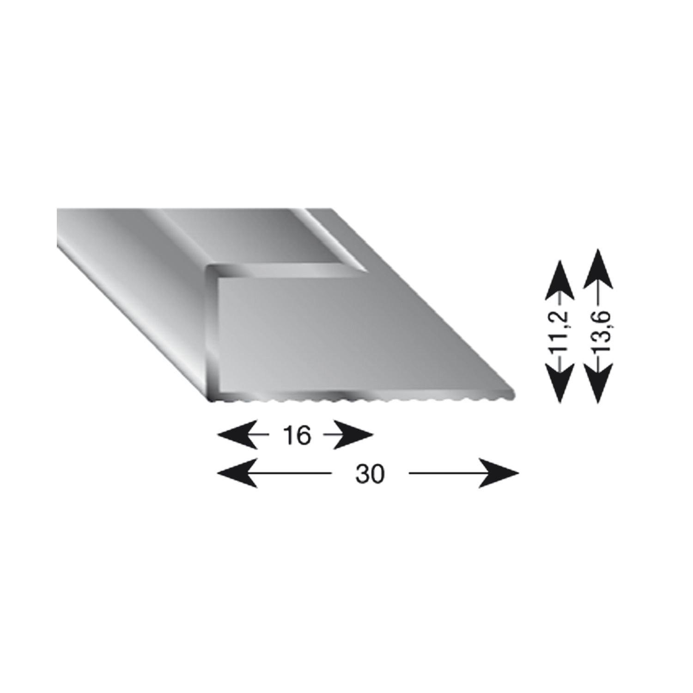 25//10//1000 mm selbstklebend K/ügele 105B SD 100S Treppenwinkel Alu sand eloxiert