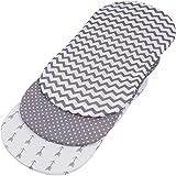 Bassinet Sheet Set | Super Soft Jersey Knit Cotton | 3 Pack | 150 GSM | by BaeBae Goods