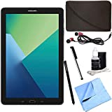 Samsung Galaxy Tab A 10.1 Tablet PC Black w/ S Pen Bundle includes Tablet, Microfiber Cloth, Cleaning Kit, Stylus Pen with Clip, Protective Neoprene Sleeve and Metal Ear Buds