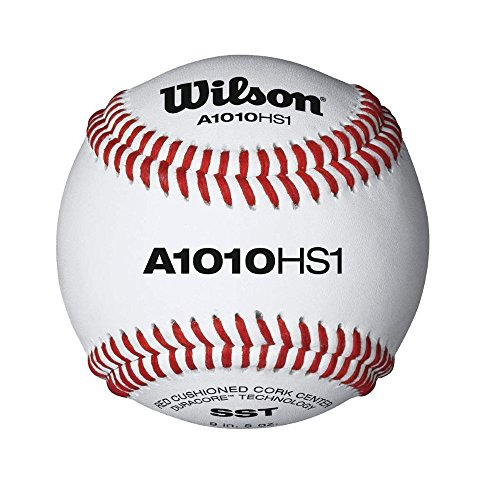 Wilson SST HS1 Baseball (12-Pack), White by Wilson