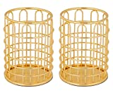 Superbpag Gold Desk Pencil Holder, 2 Pack