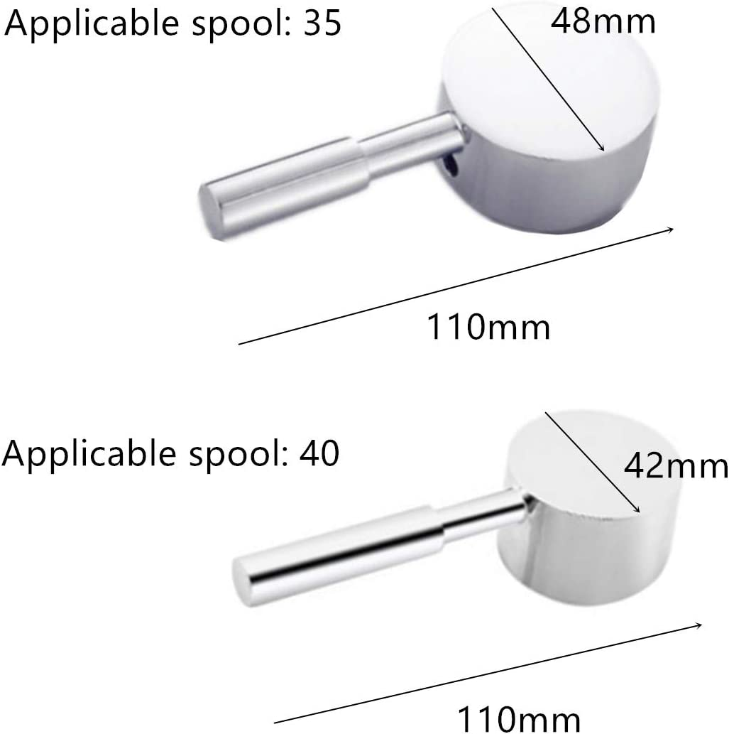 Pomo de manija para grifo de una sola palanca con n/úcleo de v/álvula de 35 mm//40 mm 2 unidades
