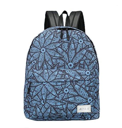 tellw Outdoor Recreation Studenten 2Seiten Schultern Blau Mädchen Frauen Tasche