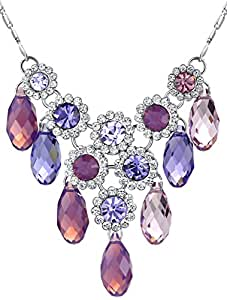 Regal Style Austrian Crystal Necklace for Women (Purple) 2037801