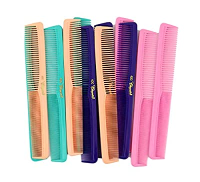 7 inch All Purpose Hair Comb. Hair Cutting Combs. Barber's & Hairstylist Combs. Fresh Mix 12 Units.
