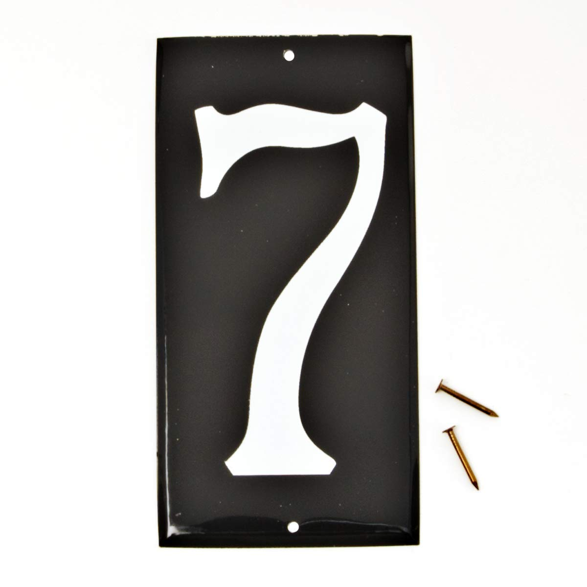 Hy-Ko Products CA-25/7 Aluminum House Number 7 (SEVEN) 3.5'' High Black with Reflective