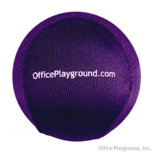 Cyber Gel Therapeutic Stress Ball and Grip Strengthener for the Office, Car, Classroom, or Home – Purple Lycra
