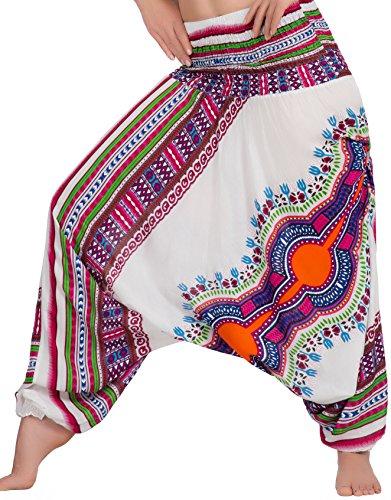 Pump pantaloni Harem pantaloni Peacock Zarlena qualit