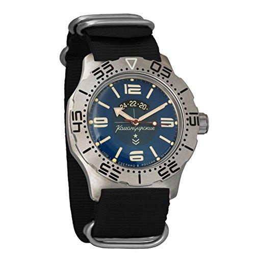 Auto Power Reserve Mens Watch - Vostok Komandirskie K-35 Mechanical AUTO Self-winding Mens Military Wrist Watch #350669 (black)
