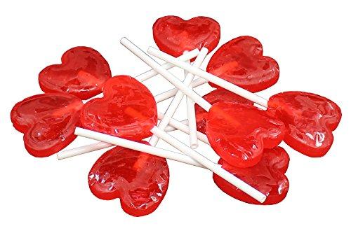 Zaza Bat-Bat Strawberry Heart Lollipops Kosher - 300gram (Pack of -