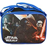 Star Wars The Force Awakens Lunch Box Bag Kylo Ren Tropper Tie Fighters - Blue, Black - Rectangle