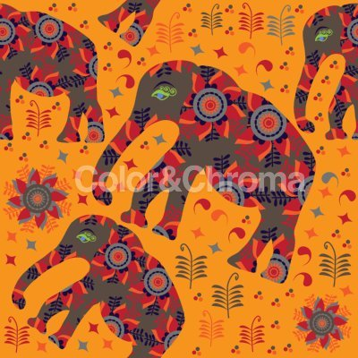 Indian Elephant Mountain Hike Shower Curtain: Large Waterproof Luxurious Bathroom Design Woven Fabric by uneekee (Image #2)