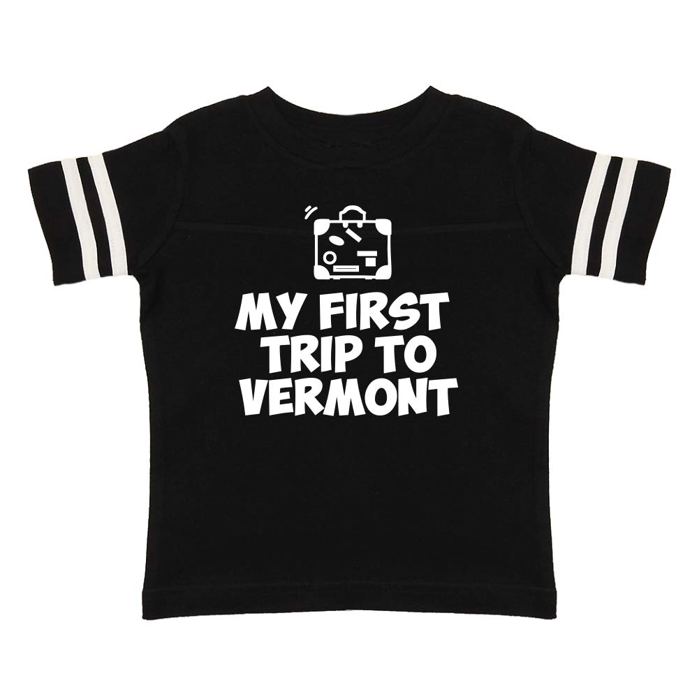 Toddler//Kids Sporty T-Shirt Mashed Clothing My First Trip to Vermont