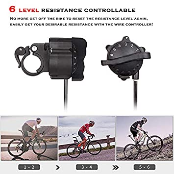 Deuter Bike Trainer Portable Quick Release Skewer /& Front Wheel Riser Block Included Magnetic Bicycle Stationary Stand for Indoor Exercise Riding