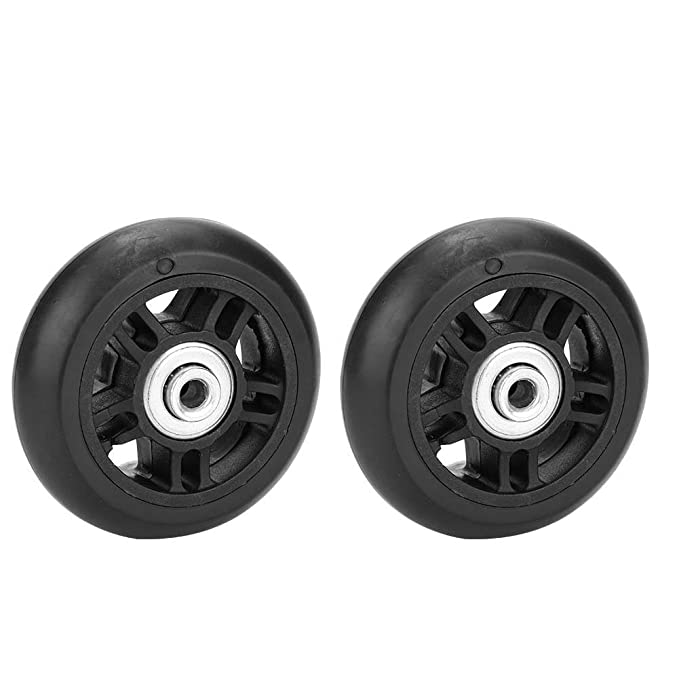 Amazon.com : Dilwe 2 PCS Suitcase Wheels, Rubber Luggage Wheels Replacement with Screws, Wrench, Bearing Axles Repair OD 42/46/70mm(46mm) : Sports & ...