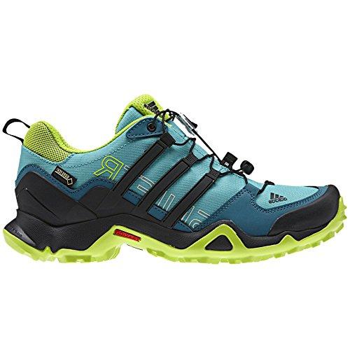 Adidas Terrex al aire libre Swift R Gtx Senderos de zapatos - Negro / explosión púrpura 5 Vivid Mint / Black / Smi Slr Slm