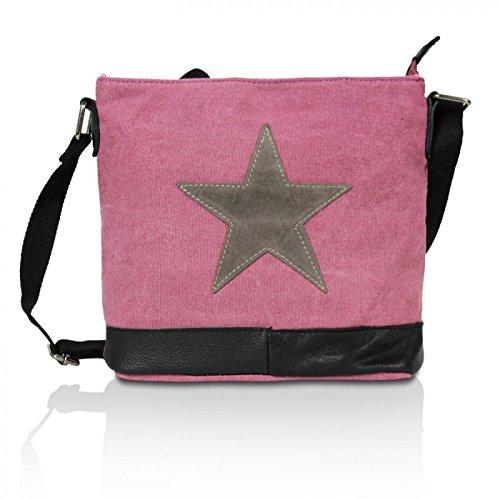68f511bff2f89 Glamexx24 Damen Handtaschen Tasche Schultertasche Umhängetasche mit Stern  Muster Tragetasche TE201622 Maroon q47pJy50D