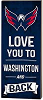 "KH Sports Fan 7""X18"" Washington Capitals Love You To NHL Logo Plaque"