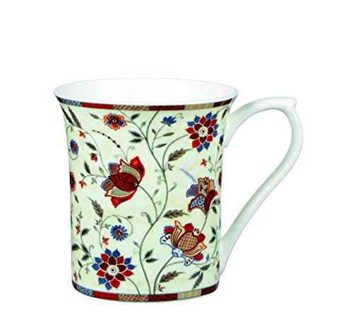Churchill China Hidden World Indian Silk Red Fine Bone China Gift Coffee Tea Cup Bone China Tea Mug