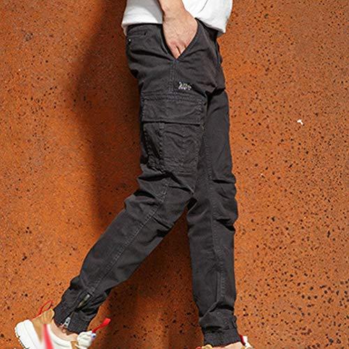 Casual Fit Di 6 Chinos Autunno Cotone Marchio Slim Pantaloni Nuovi Inverno Uomo Kaiyei Moda Abbigliamento Maschile Grigio aInwq1HWW